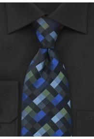 Businesskrawatte Schachbrett-Muster blau