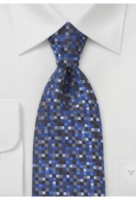 Krawatte Vierecke blau