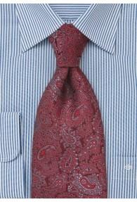 Klassische Paisley Krawatte rot