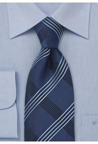 Krawatte Vierecke dunkelblau
