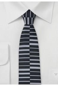 Schmale Trend-Krawatte asphaltschwarz