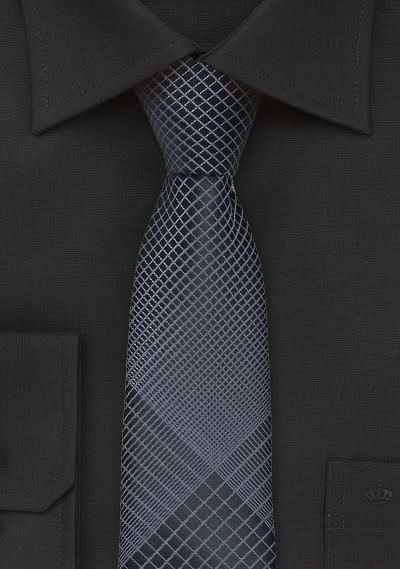 Trendig schmal geformte Krawatte anthrazit