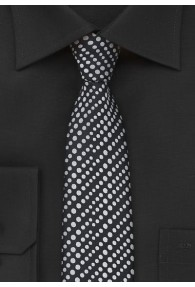 Krawatte schmal geformt nachtschwarz hellgrau