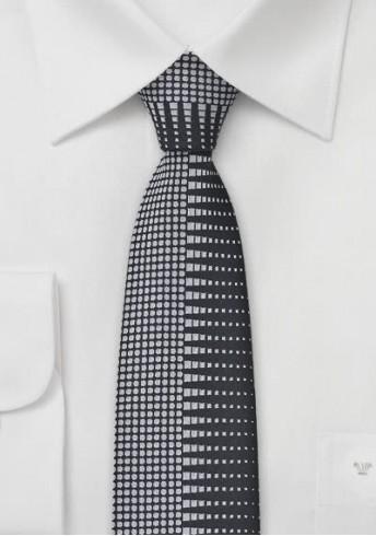 Krawatte schlank Zickzack-Muster schwarz