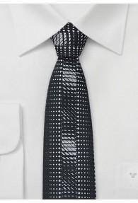 Krawatte nachtschwarz schmale Form