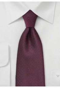 Krawatte Pünktchen weinrot