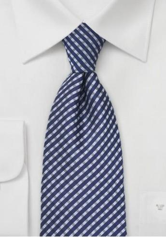 Krawatte Linien-Kästen blau