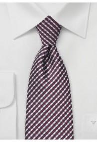Krawatte Linien-Kästen bordeaux