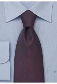 Krawatte Rippsstruktur weinrot