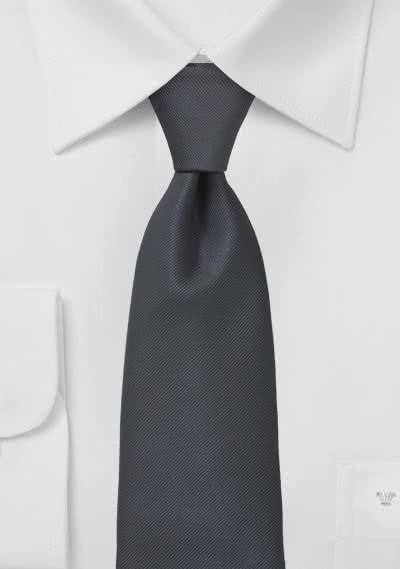 Krawatte gerippte Struktur dunkelgrau
