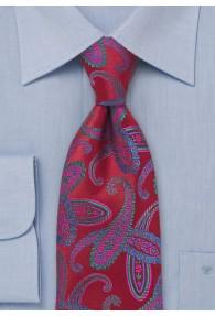 Krawatte Paisleys mittelrot
