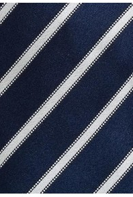 Herrenkrawatte marineblau Streifen