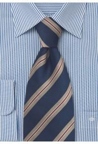 Klassische Regiments-Krawatte XXL  in Marineblau