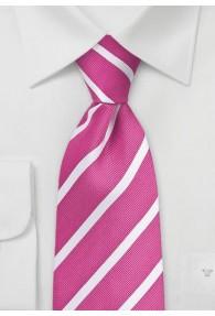 Seidenkrawatte Streifenmuster fein  pink