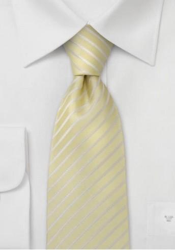 Kinder-Krawatte vanille gestreift