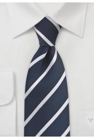 Krawatte Streifen zart dunkelblau weiß