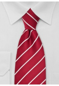 XXL-Krawatte gestreift weiß rot