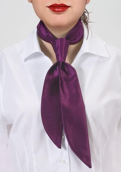 Krawatte für Damen violett monochrom