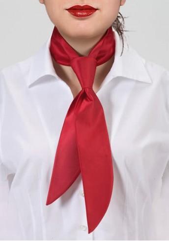 Damen-Halsbinde rot monochrom
