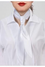 Krawatte für Damen weiß monochrom