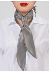Krawatte für Damen silber einfarbig