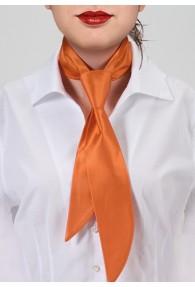 Krawatte für Damen orange einfarbig