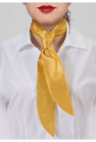 Damen-Servicekrawatte gelb unifarben
