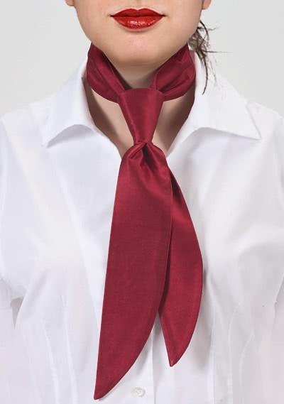 Service-Damenkrawatte rot unifarben
