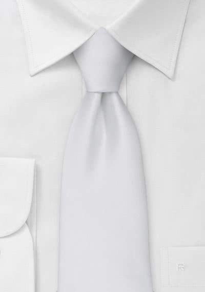 XXL Krawatte weiß