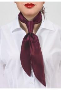 Damen-Halsbinde dunkelrot monochrom