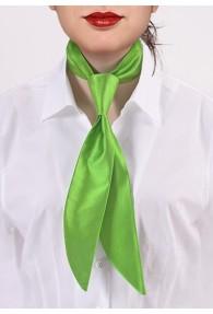 Damen-Servicekrawatte giftgrün einfarbig