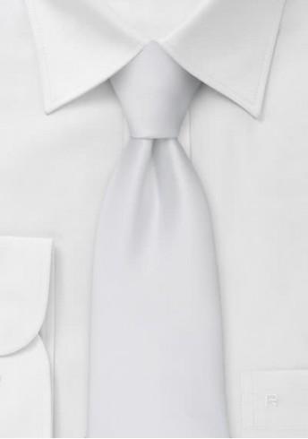Clip-Krawatte in reinweiß