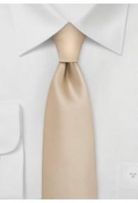 Schmale Krawatte champagner unifarben