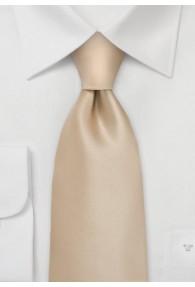 XXL-Krawatte champagner unifarben