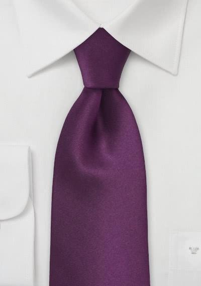 Krawatte einfarbig violett