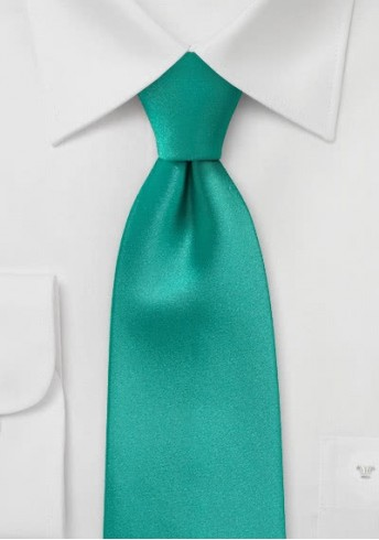 Krawatte monochrom türkis