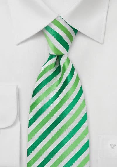 Kinder-Krawatte Mikrofaser Streifen Hellgrün