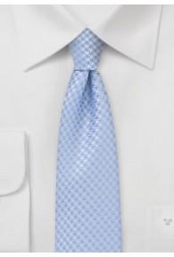Krawatte schmal geformt Gitter-Oberfläche taubenblau