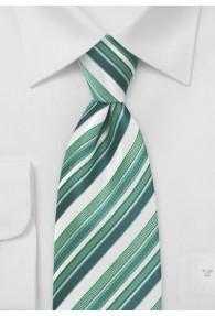 Businesskrawatte Streifen-Dessin hellgrün