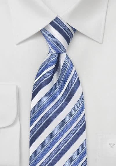 Krawatte Streifen-Muster blassblau