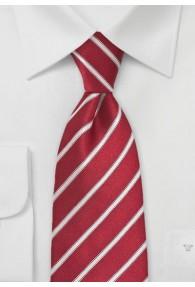 Krawatte zierliches Streifen-Dessin rot