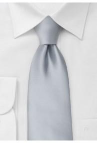 Clip-Krawatte in kühlem silber