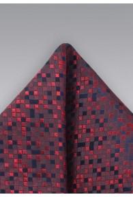 Einstecktuch Vierecke rot
