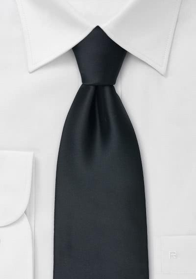 Schwarze Clipkrawatte Polyester