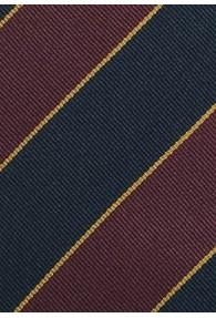 Gestreifte Regimentskrawatte mittelrot navyblau