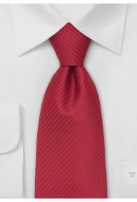 XXL-Krawatte in rot mit feinen Streifen