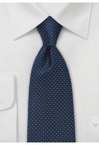 Krawatte Pünktchen-Dessin nachtblau