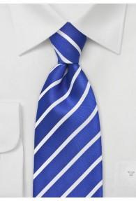 Herrenkrawatte Business-Streifendesign blau