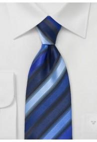 Blaue Krawatte breit gestreift
