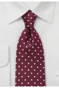 Krawatte Tupfen sherryrot